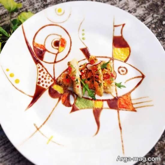انواع دیزاین غذا با سس