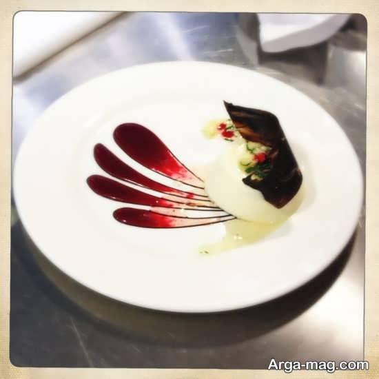 دیزاین غذا با سس