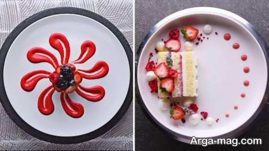 دیزاین جدید غذا با سس