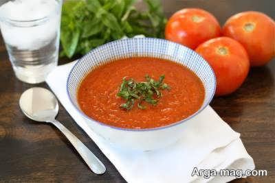 روش پخت سوپ گوجه فرنگی