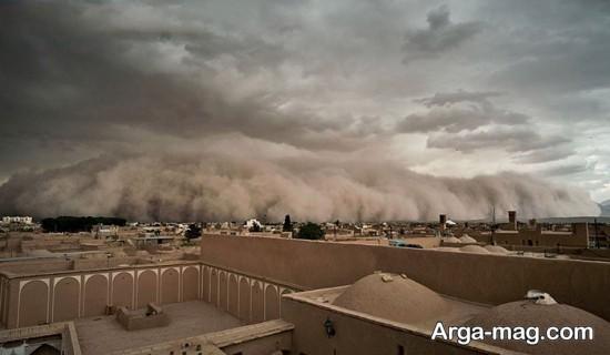 yazd 1 - عکس متفاوت از طوفان شن در یزد