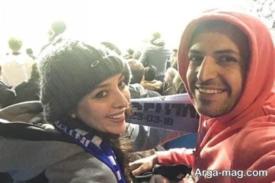 ANahita dargahi 1 - عکس های منتشر شده از آناهیتا درگاهی و همسرش در ورزشگاه انگلیس