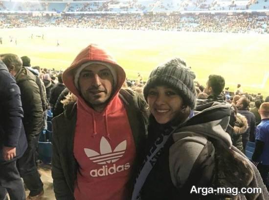 ANahita dargahi 2 - عکس های منتشر شده از آناهیتا درگاهی و همسرش در ورزشگاه انگلیس