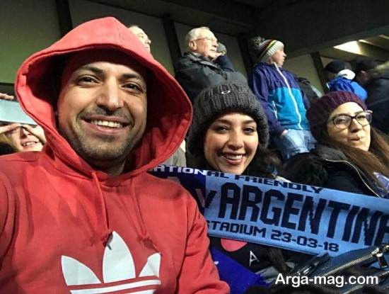 ANahita dargahi 3 - عکس های منتشر شده از آناهیتا درگاهی و همسرش در ورزشگاه انگلیس