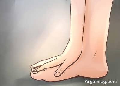 مسح کشیدن پای چپ