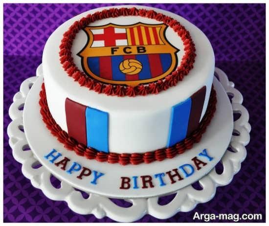 کیک تولد با تم بارسلونا