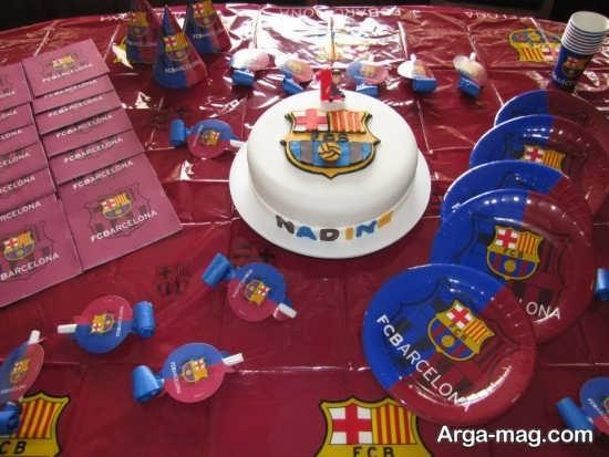 طراحی میز تولد با تم بارسلونا