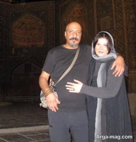 امیر جعفری با همسرش