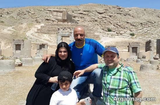 امیر جعفری و فرزند و همسرش