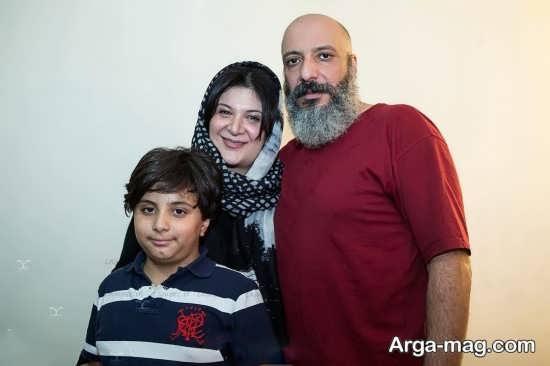 امیر جعفری با پسر و همسرش