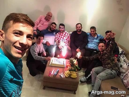 فرشاد احمدزاده با خانواده