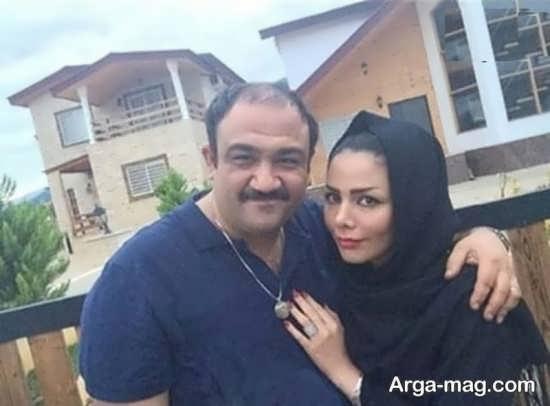 مهران غفوریان در کنار همسر خود