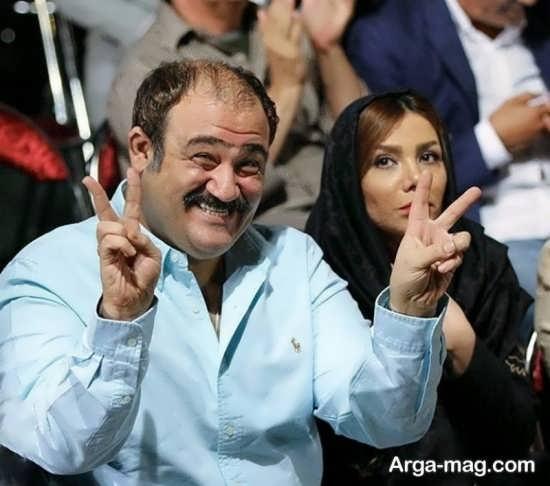 عکس مهران غفوریان با همسرش