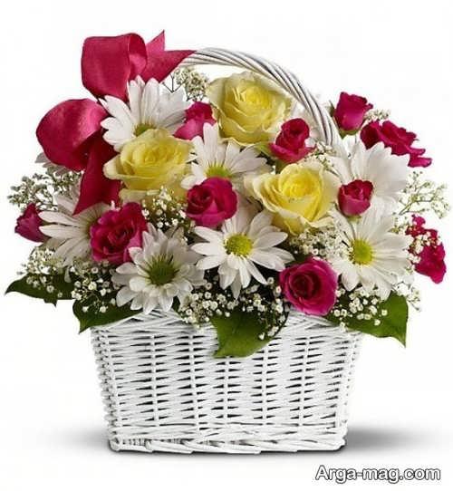 سبد گل هدیه ای مناسب برای تولد