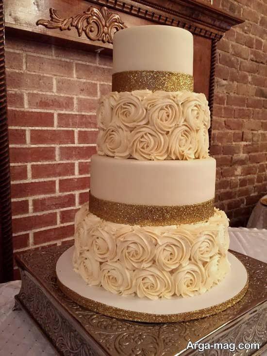 تزیین کیک ساده برای عروسی