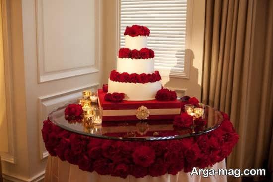 تزیین کیک با گل برای عروسی