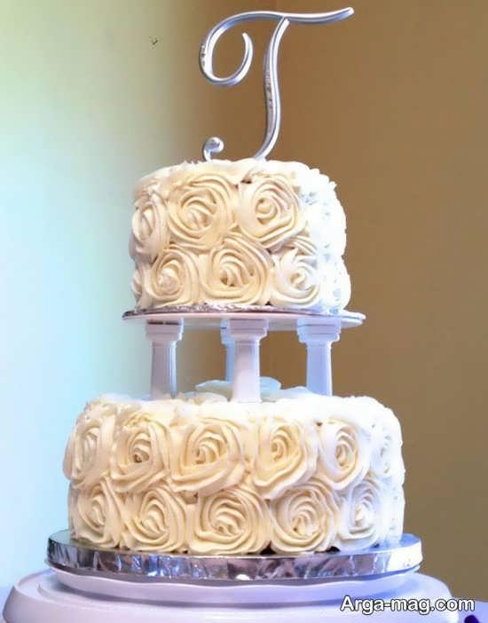 تزیین کیک دو طبقه برای عروسی