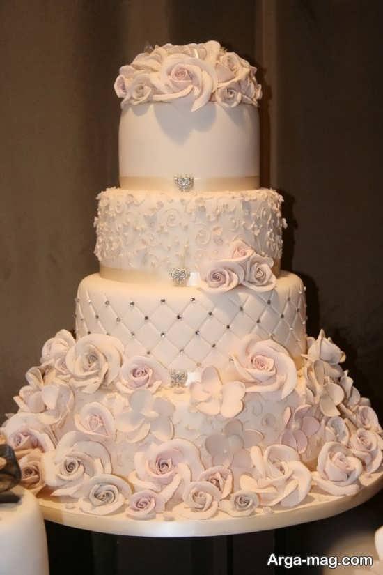 تزیین کیک عروس با روش های زیبا