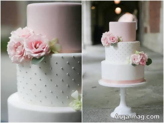 تزیین کیک عروسی با روش های جالب