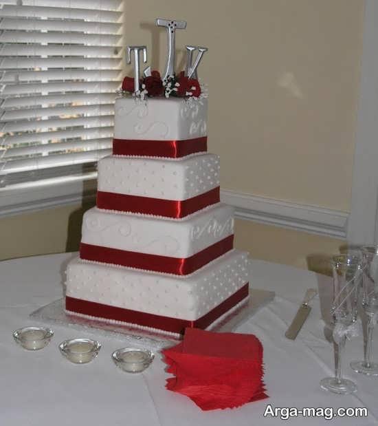تزیین کیک چن طبقه برای عروسی