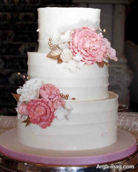 تزیین کیک با گل