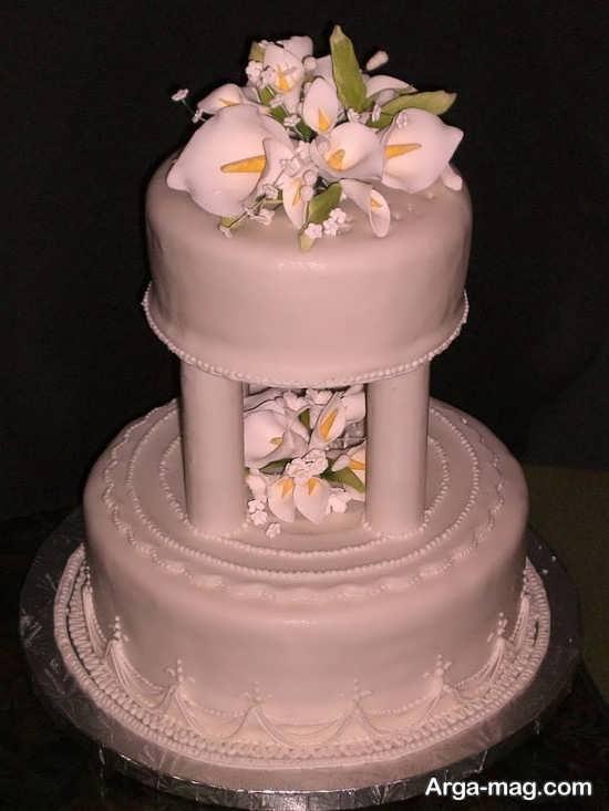 تزیین کیک با خمیر فوندانت برای عروسی