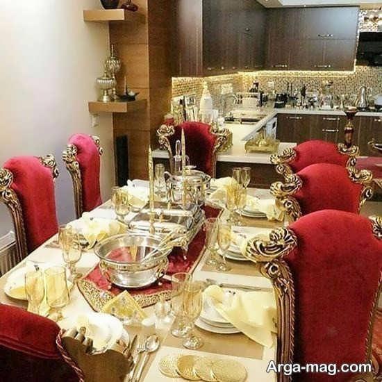 طراحی اتاق غذاخوری عروس