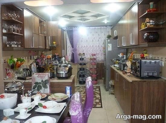 چیدمان وسایل در فضای آشپزخانه عروس