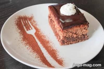 کیک اسفنجی شکلاتی خوشمزه