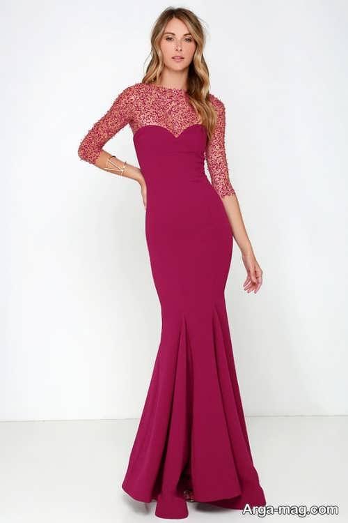 مدل لباس مجلسی کلاسیک بلند