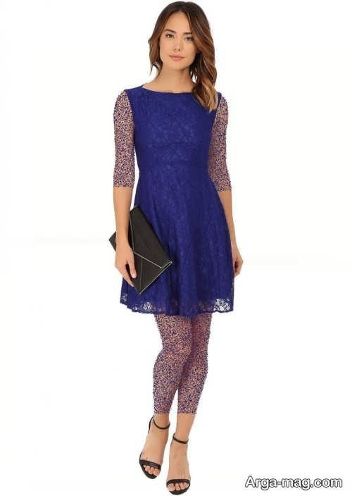 مدل لباس مجلسی کلاسیک آبی