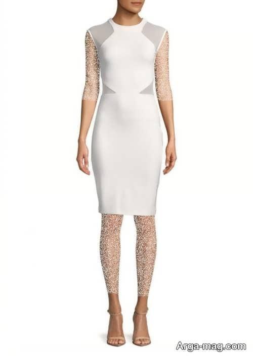 مدل لباس مجلسی کلاسیک سفید