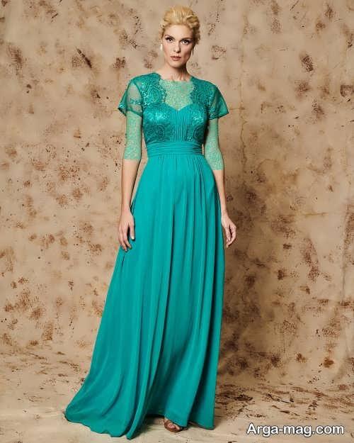مدل لباس مجلسی کلاسیک و سبز