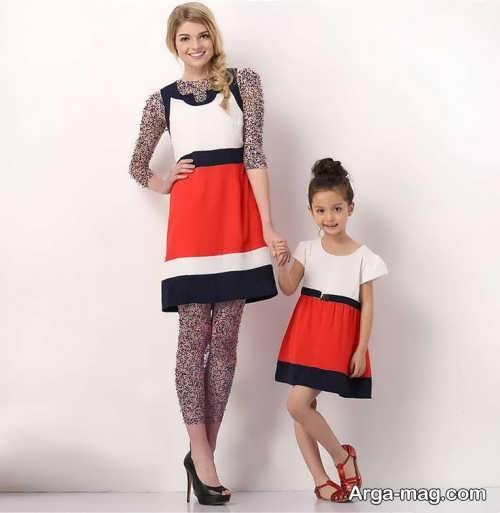 مدل لباس مجلسی کوتاه و زیبا برای مادر و دختر