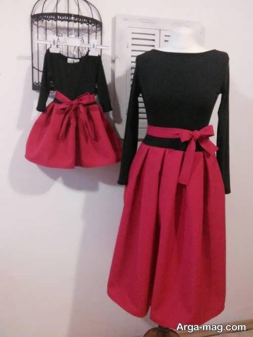 مدل لباس مجلسی شیک و ست برای مادر و دختر
