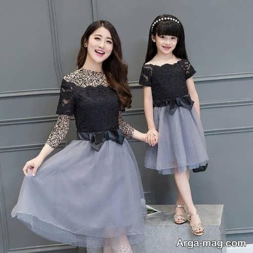 مدل لباس مجلسی کره ای ست برای مادر و دختر