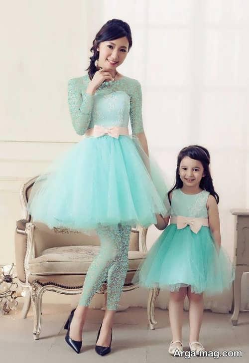 مدل لباس پرنسسی ست برای مادر و دختر