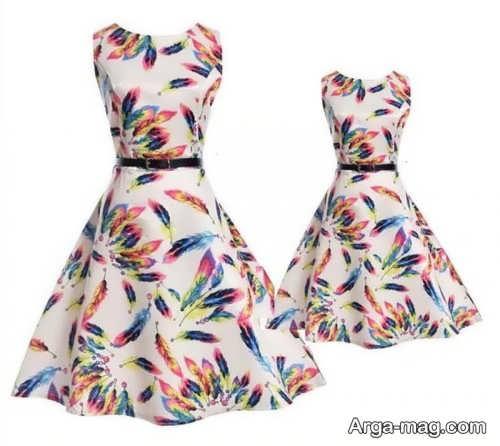 مدل لباس مجلسی کوتاه و ست برای مادر و دختر
