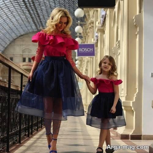 مدل لباس مجلسی ست و شیک برای مادر و دختر