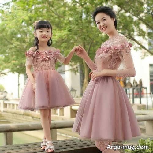 مدل لباس پرنسسی شیک برای مادر و دختر
