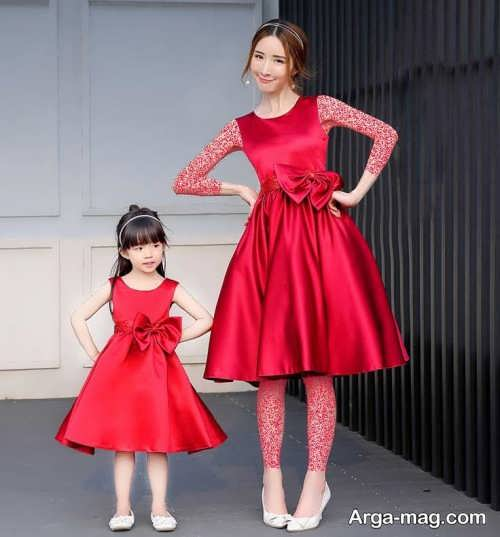 مدل لباس مجلسی ساده برای مادر و دختر
