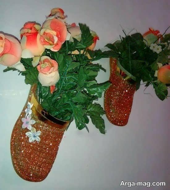 عکس کاردستی خلاقانه از کفش کهنه