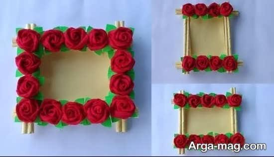 دیزاین قاب عکس با گل