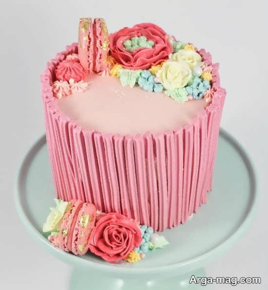 تزیین کیک گرد