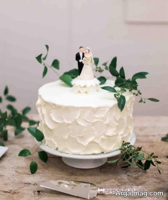 تزیین کیک عروس با روش جالب