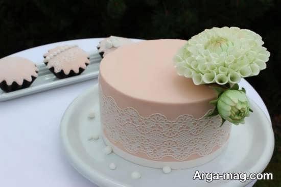 دیزاین شیک کیک عروسی با گل