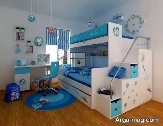 تزیین اتاق کودک با تم آبی