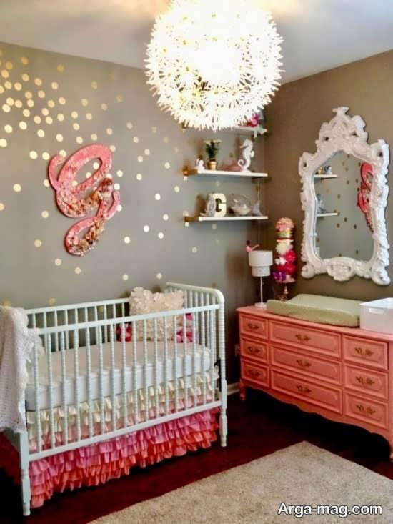 تزیین زیبای دیوار اتاق کودک