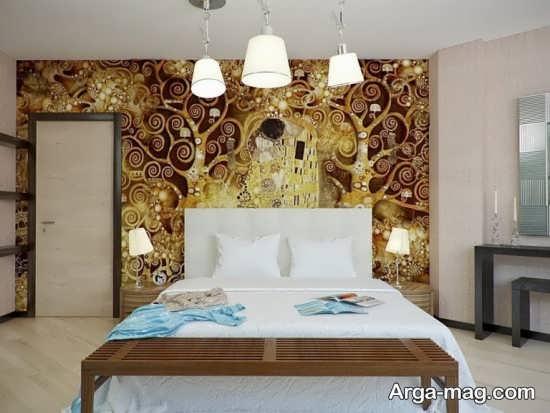 اتاق خواب با دکوراسیون شیک