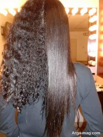 کراتینه کردن موهای بلند
